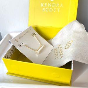 NWT Kendra Scott 14k gold mother pearl pendant